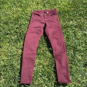 Size: 2 Divided stretchy maroon pants